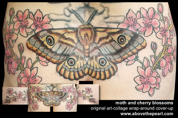 moth and blossoms cover-up by Tanya magdalena
