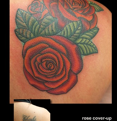name coverup tattoo by Tanya Magdalena